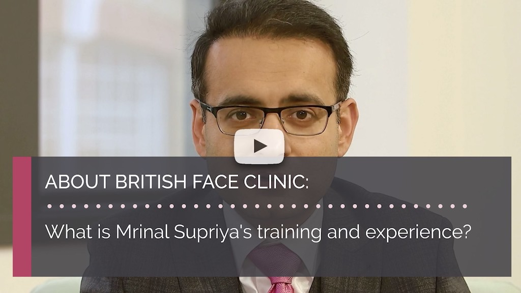 What is Mrinal Supriyas training and experience british face clinic london